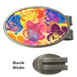Pop Art Roses Money Clips (Oval)  Front
