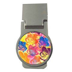 Pop Art Roses Money Clips (Round)