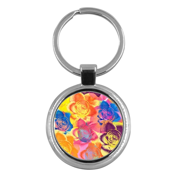 Pop Art Roses Key Chains (Round)