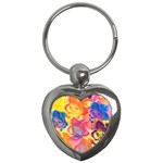 Pop Art Roses Key Chains (Heart)  Front