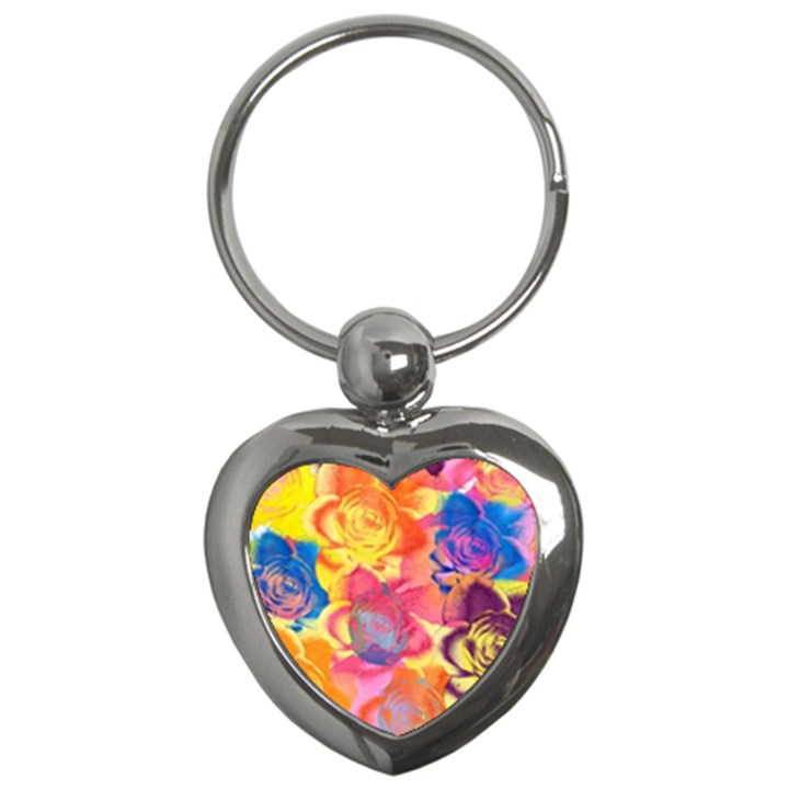 Pop Art Roses Key Chains (Heart)