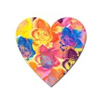 Pop Art Roses Heart Magnet Front