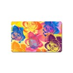 Pop Art Roses Magnet (Name Card) Front