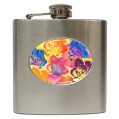 Pop Art Roses Hip Flask (6 oz)