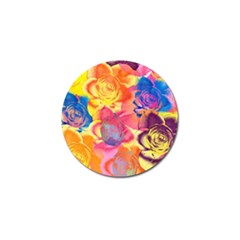 Pop Art Roses Golf Ball Marker