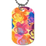 Pop Art Roses Dog Tag (Two Sides) Front