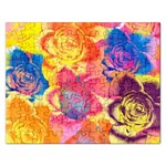 Pop Art Roses Rectangular Jigsaw Puzzl Front