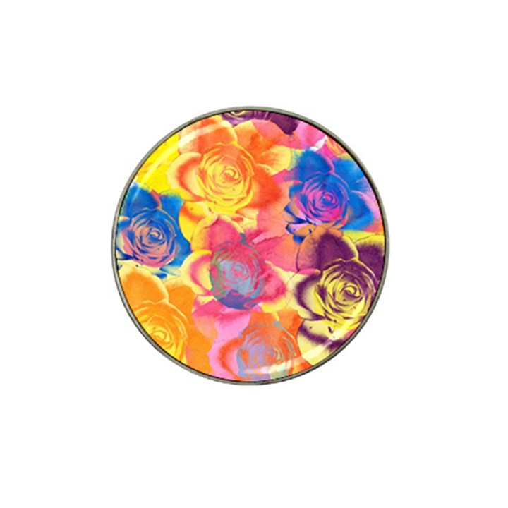 Pop Art Roses Hat Clip Ball Marker (10 pack)