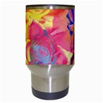 Pop Art Roses Travel Mugs (White) Center