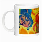 Pop Art Roses Night Luminous Mugs Left