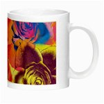 Pop Art Roses Night Luminous Mugs Right