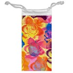 Pop Art Roses Jewelry Bags Back