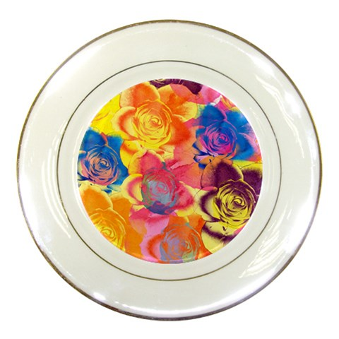 Pop Art Roses Porcelain Plates