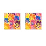 Pop Art Roses Cufflinks (Square) Front