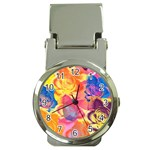 Pop Art Roses Money Clip Watches Front