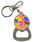 Pop Art Roses Bottle Opener Key Chains Front