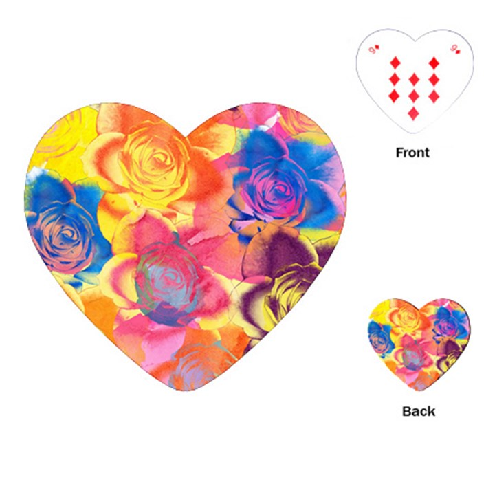 Pop Art Roses Playing Cards (Heart)