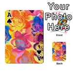 Pop Art Roses Playing Cards 54 Designs  Front - SpadeA