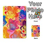 Pop Art Roses Playing Cards 54 Designs  Front - Diamond10