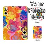 Pop Art Roses Playing Cards 54 Designs  Front - Spade10