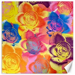 Pop Art Roses Canvas 12  X 12