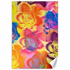 Pop Art Roses Canvas 12  x 18