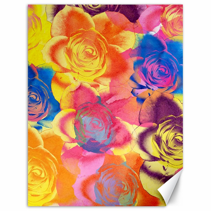 Pop Art Roses Canvas 18  x 24