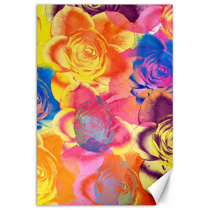 Pop Art Roses Canvas 20  x 30