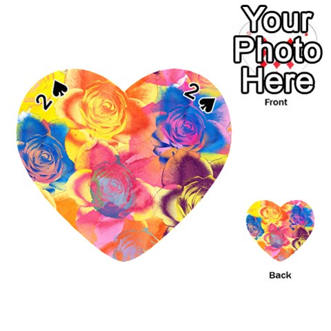Pop Art Roses Playing Cards 54 (Heart)