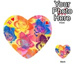 Pop Art Roses Playing Cards 54 (Heart)  Front - Heart10