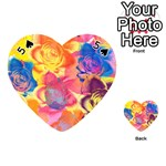 Pop Art Roses Playing Cards 54 (Heart)  Front - Spade5