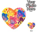 Pop Art Roses Playing Cards 54 (Heart)  Front - Diamond9