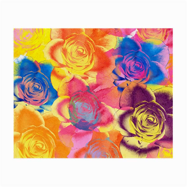 Pop Art Roses Small Glasses Cloth (2-Side)
