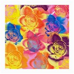 Pop Art Roses Medium Glasses Cloth (2-Side) Back