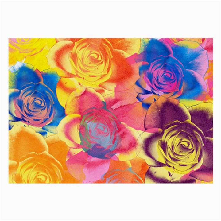 Pop Art Roses Large Glasses Cloth