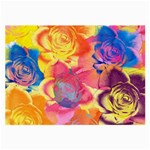 Pop Art Roses Large Glasses Cloth (2-Side) Front