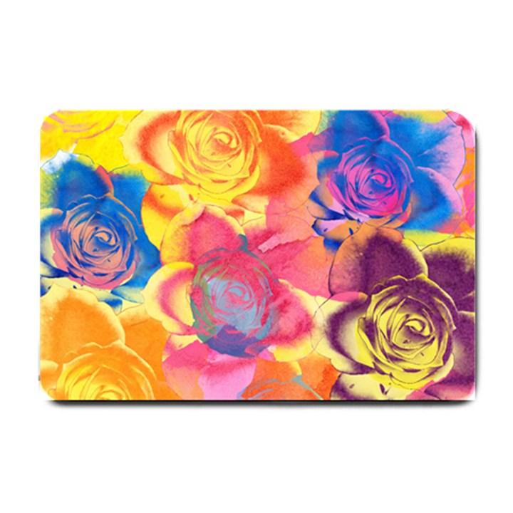Pop Art Roses Small Doormat