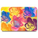 Pop Art Roses Large Doormat  30 x20 Door Mat - 1