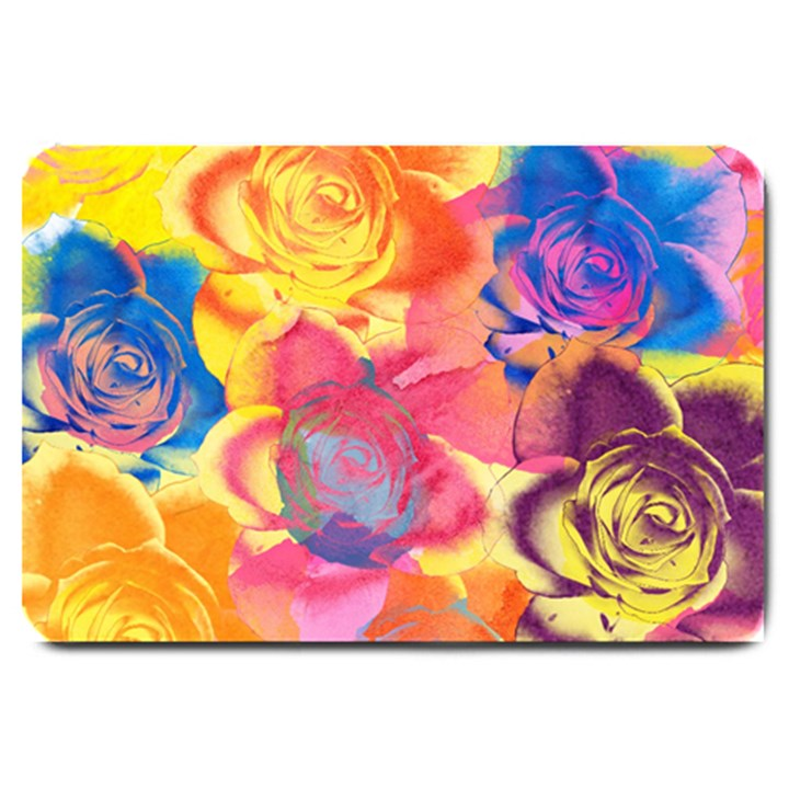 Pop Art Roses Large Doormat