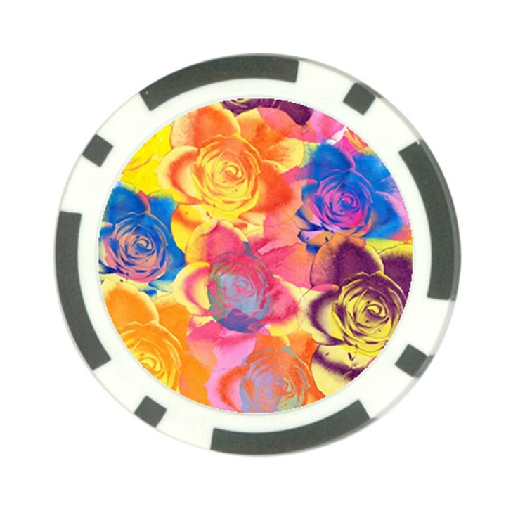 Pop Art Roses Poker Chip Card Guards