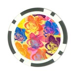 Pop Art Roses Poker Chip Card Guards Back