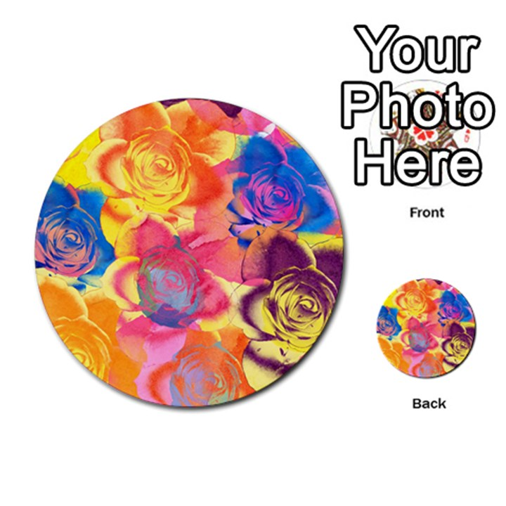 Pop Art Roses Multi-purpose Cards (Round)
