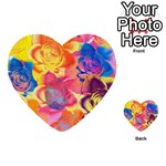 Pop Art Roses Multi-purpose Cards (Heart)  Back 45