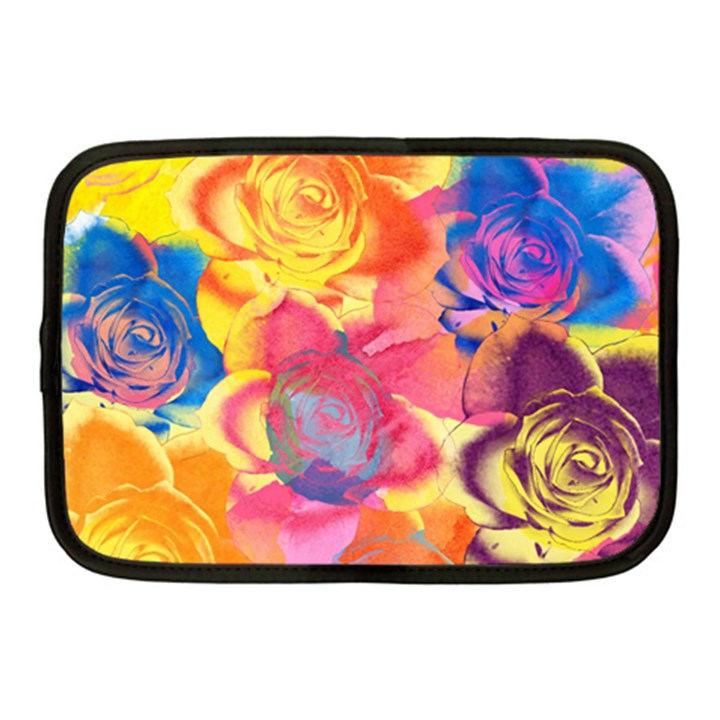 Pop Art Roses Netbook Case (Medium)