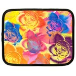 Pop Art Roses Netbook Case (Large) Front