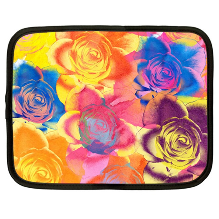 Pop Art Roses Netbook Case (Large)