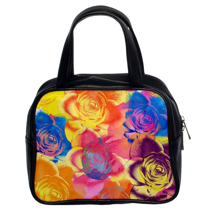 Pop Art Roses Classic Handbags (2 Sides)