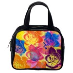 Pop Art Roses Classic Handbags (2 Sides) Back