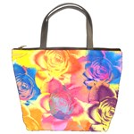 Pop Art Roses Bucket Bags Front