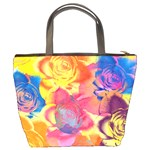 Pop Art Roses Bucket Bags Back
